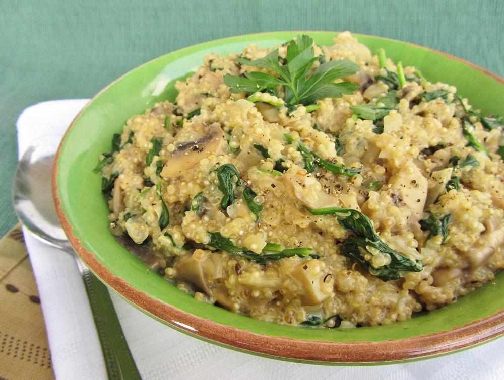 Risotto au quinoa et champignons - Les Recettes Grossesse De Neuf Mois