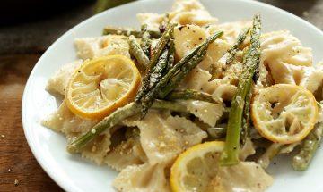 visuels recettes neuf mois pates et asperges et fromages