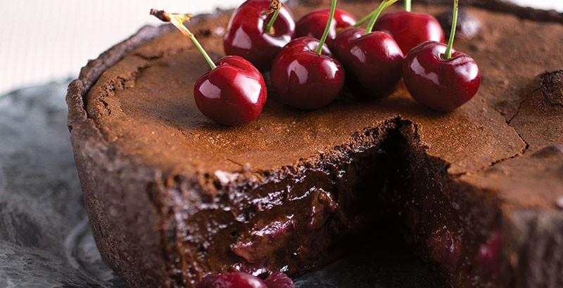 Gateau chocolat et cerise
