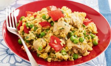 Visuel Recette paella poulet