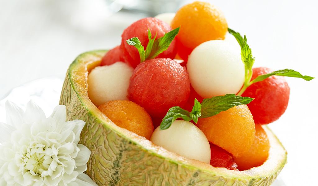 Salade de fruits jolie jolie aux trois melons les recettes grossesse de neuf mois - Coupe de salade de fruits ...