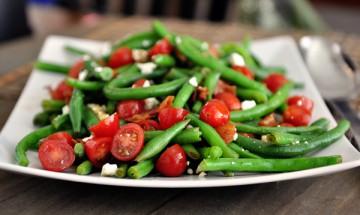 salade haricots verts et tomates cerises