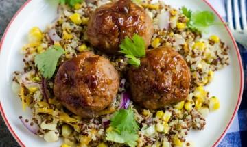 boulettes de veau et quinoa