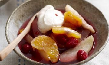Everyday food - cool nights warm desserts - Winter fruit salad