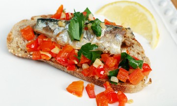 toast de sardine au cresson