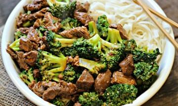 brocolis et boeuf saute chinoise
