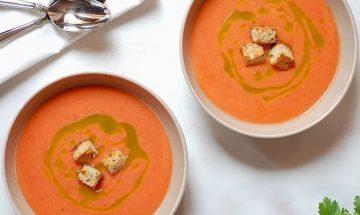 soupe froide melon et tomate