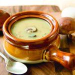 Soupe onctueuse aux champignons et au lait de coco