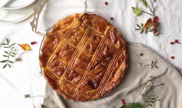 galette of the kings almond and blueberry epiphany