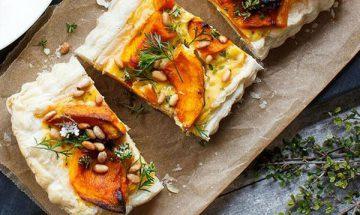 recette pizza citrouille poulet et chou