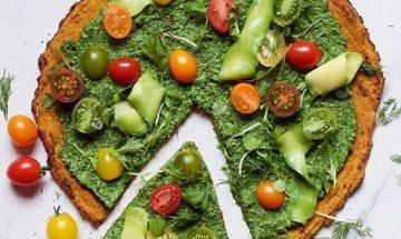 recette pizza sans farine de ble epinards et choux