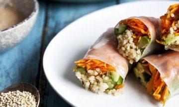 recette rouleau de printemps avec quinoa