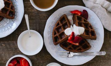 Chocolate Buttermilk Belgian Waffles | www.kitchenconfidante.com