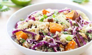 recette salade chou rouge carotte et quinoa