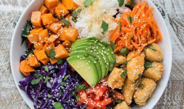 recette salade de riz fruits et legumes