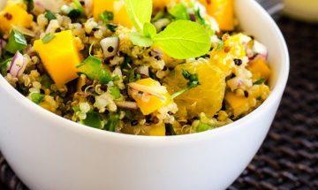 salade de quinoa epinards mangue