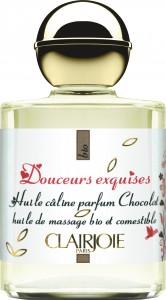 Clairjoie - Huile caline de massage comestible - cacao