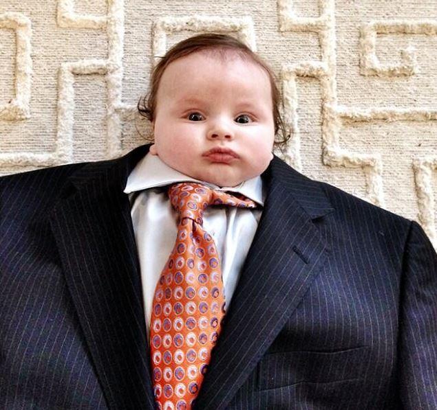 Quand bébé choisit un fashion look XXL
