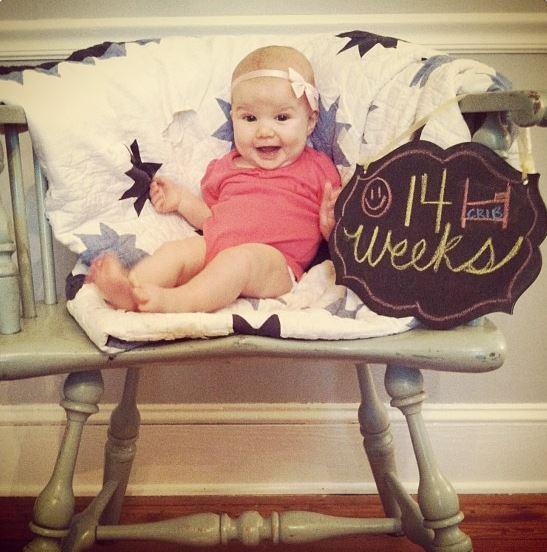 52 clichés de son bébé en une année !