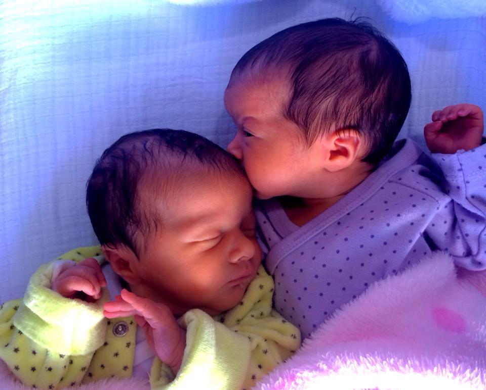 Cristina et Serena, nées le 21 mars