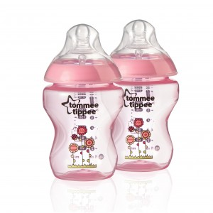 Tommee Tippee Biberons 2x 260ml decores Pink