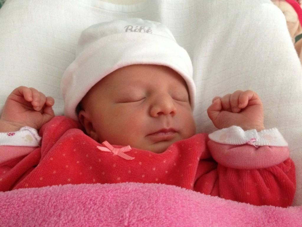 Chloé, née le 19 septembre 2014.