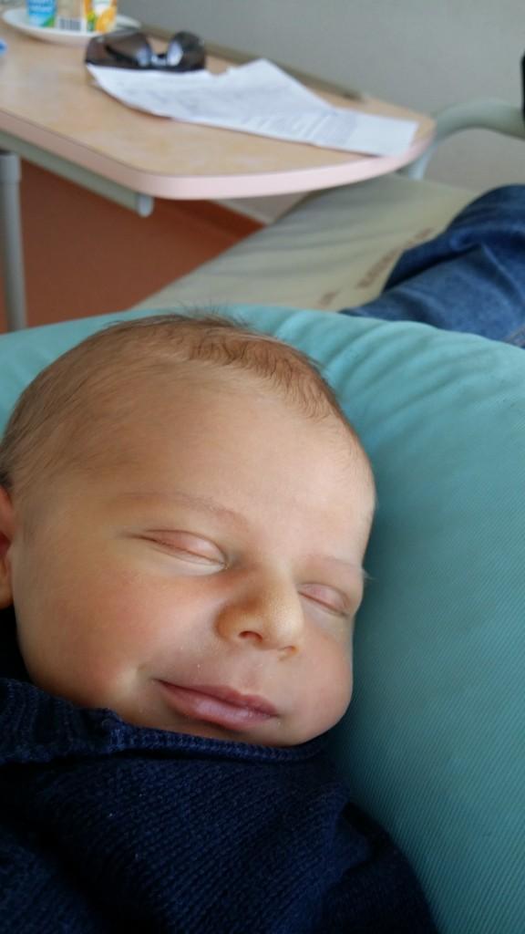 Grégoire, né le 5 septembre 2014.
