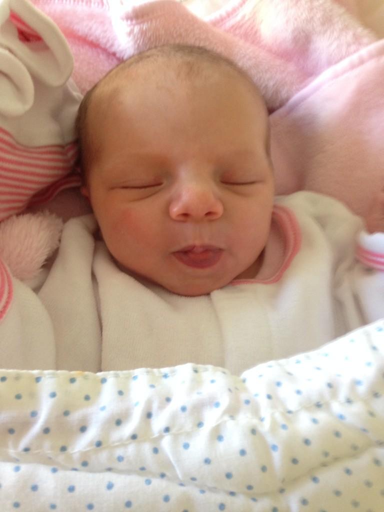 Léa, née le 1er septembre 2014.