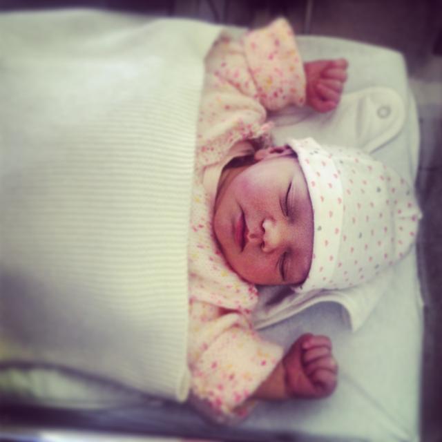 Mathilde, née le 23 septembre 2014.