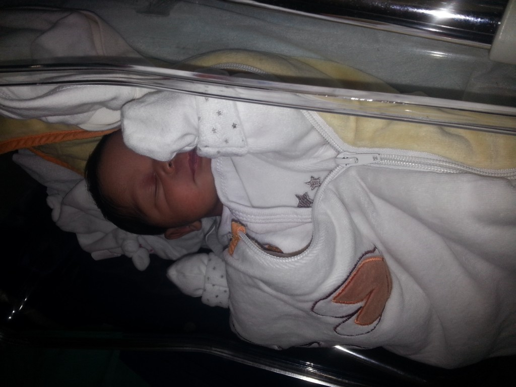 Thylia Otele, née le 10 septembre 2014.