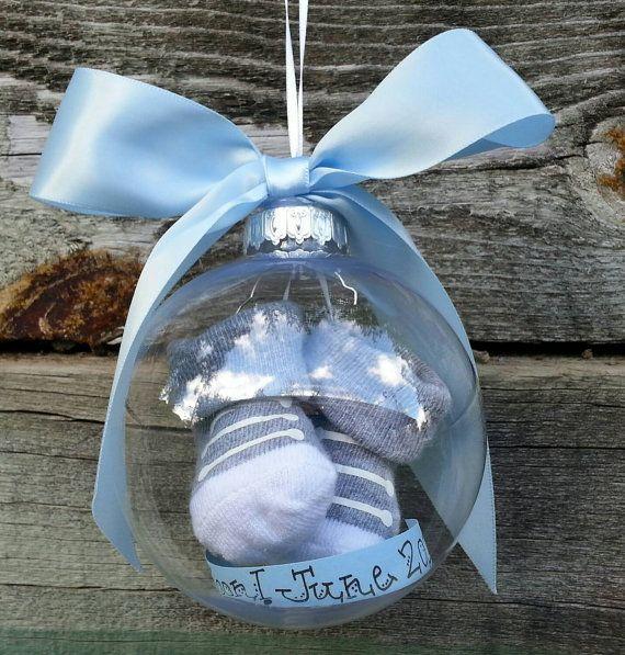 DIY des boules de Noel pour annoncer sa grossesse ou le sexe de bebe3