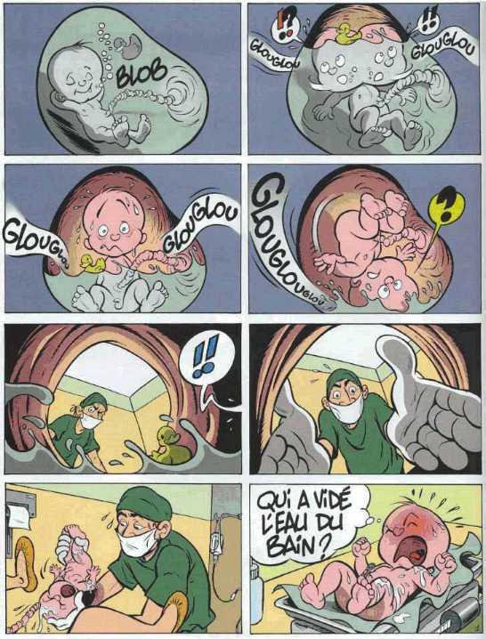 bebe ne veut pas sorti du ventre de maman