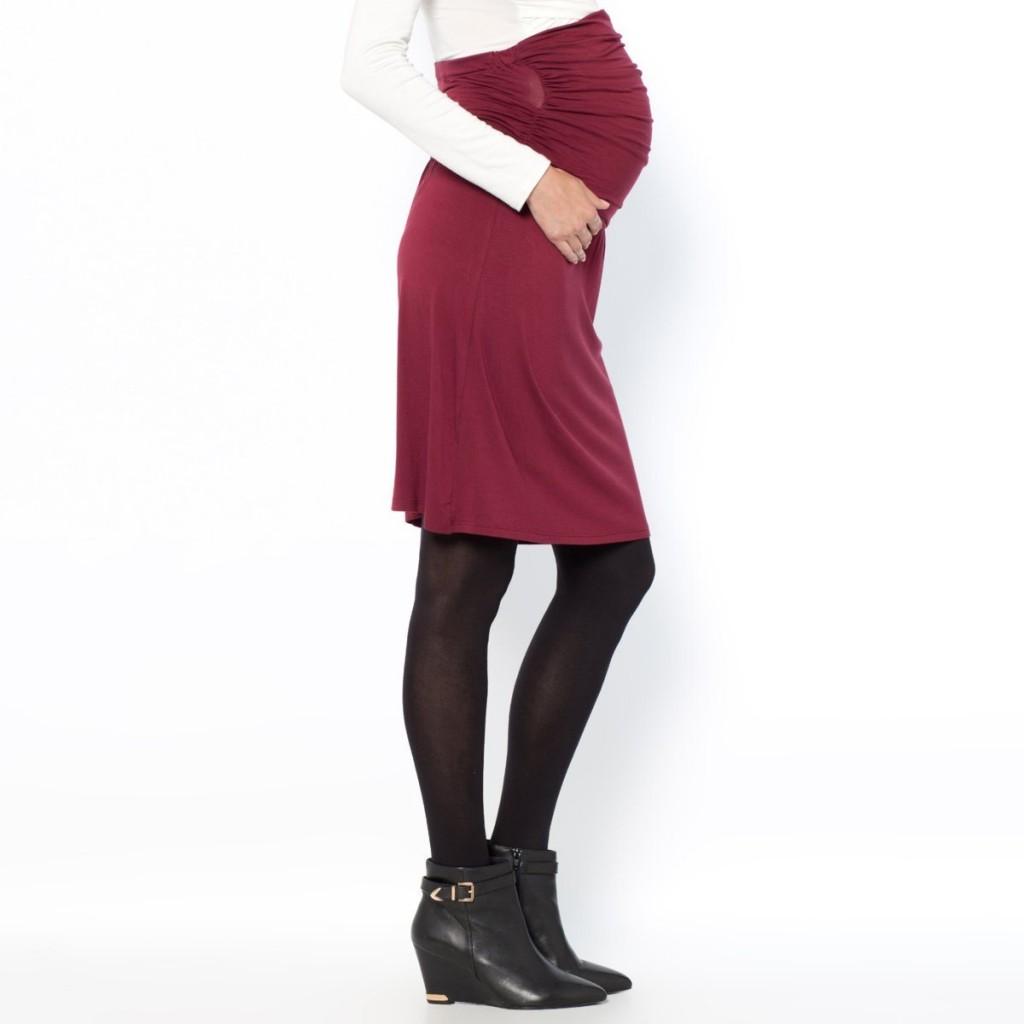 Jupe fluide de maternite jersey stretch la redoute