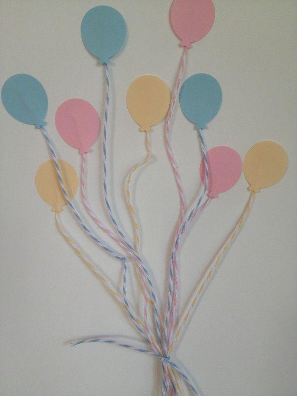 ballons de couleur chambre bebe