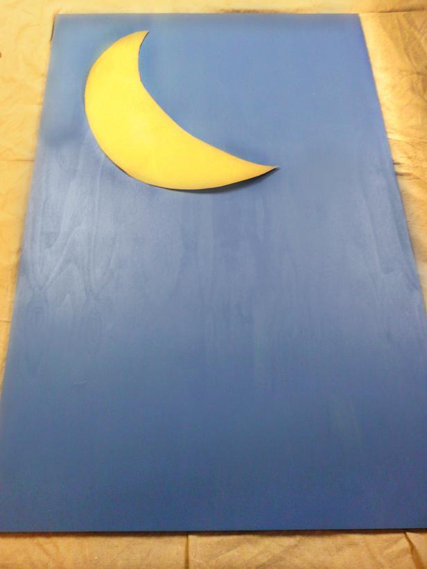 chambre enfant tete de lit etoile lune 9