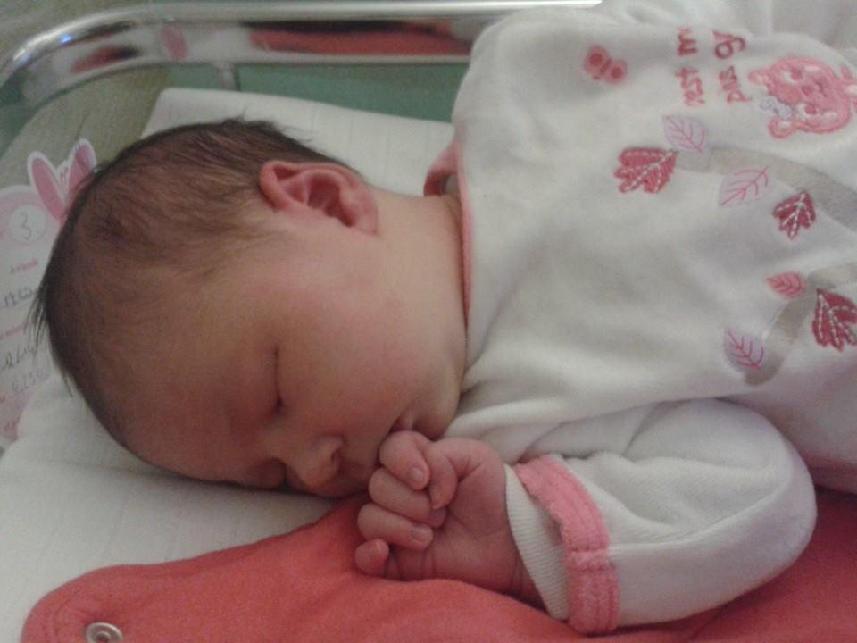 Lalie, née le 17 décembre 2014