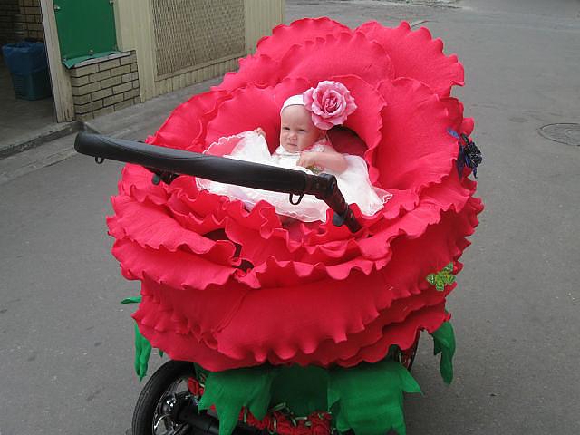 poussette rose