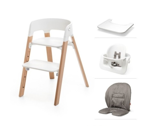 Test chaise haute steps stokke for Chaise haute stokke