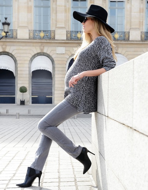 Jean de grossesse slim gris Seraphine