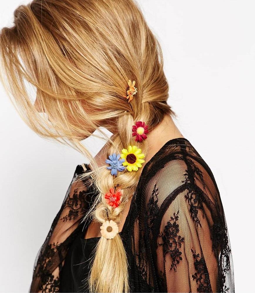barrettes fleurs de la marque asos