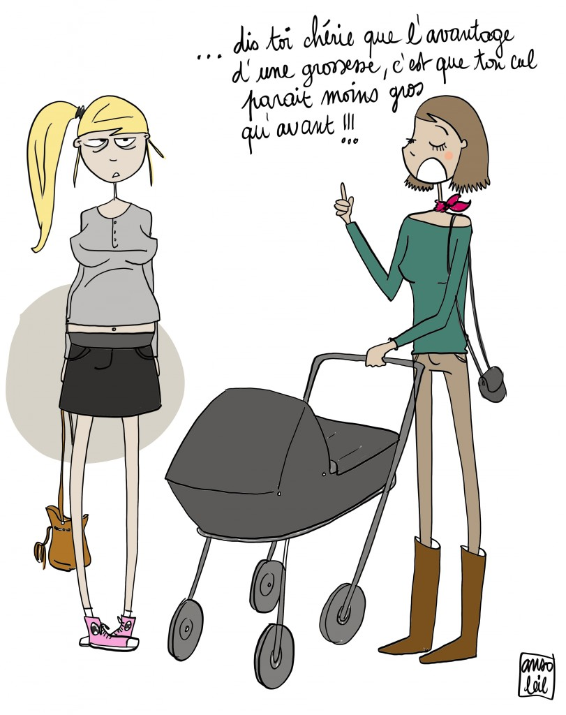 enceinte humour discussion avec la copine maman