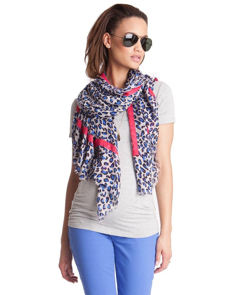 foulard imprime leopard seraphine