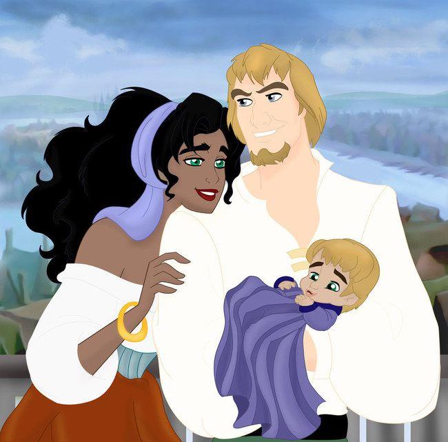 esmeralda et son bebe