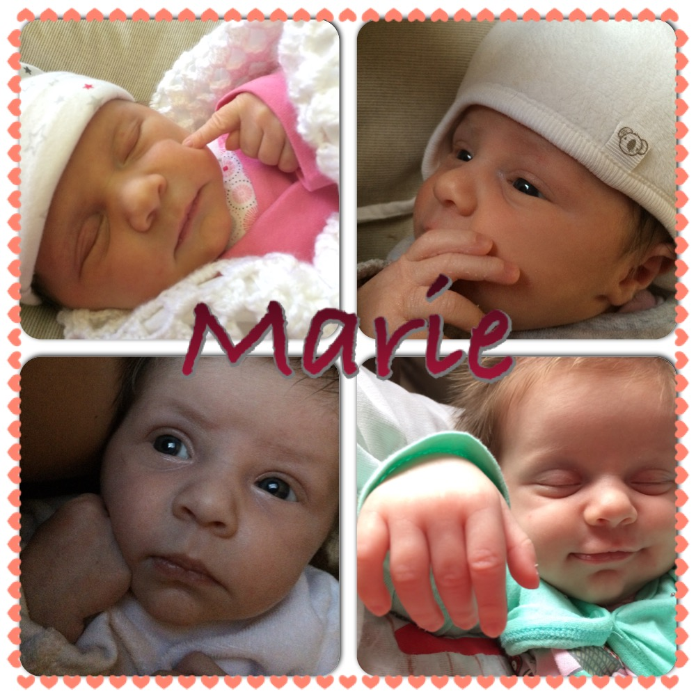 Marie, née le 7 avril 2015