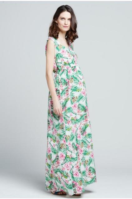 Robe longue de grossesse imprimé floral, Emoi emoi, 44,95€