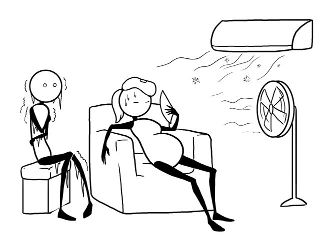 animation chaleur femme enceinte