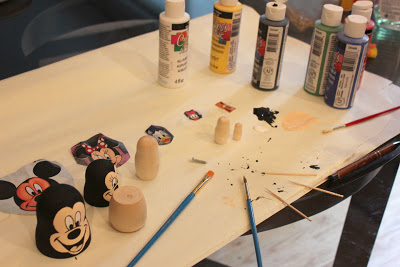 DIY peinture poupees disney