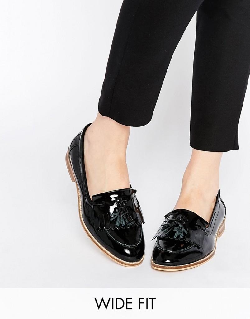 Sandales plates en cuir, ASOS,  48.99€