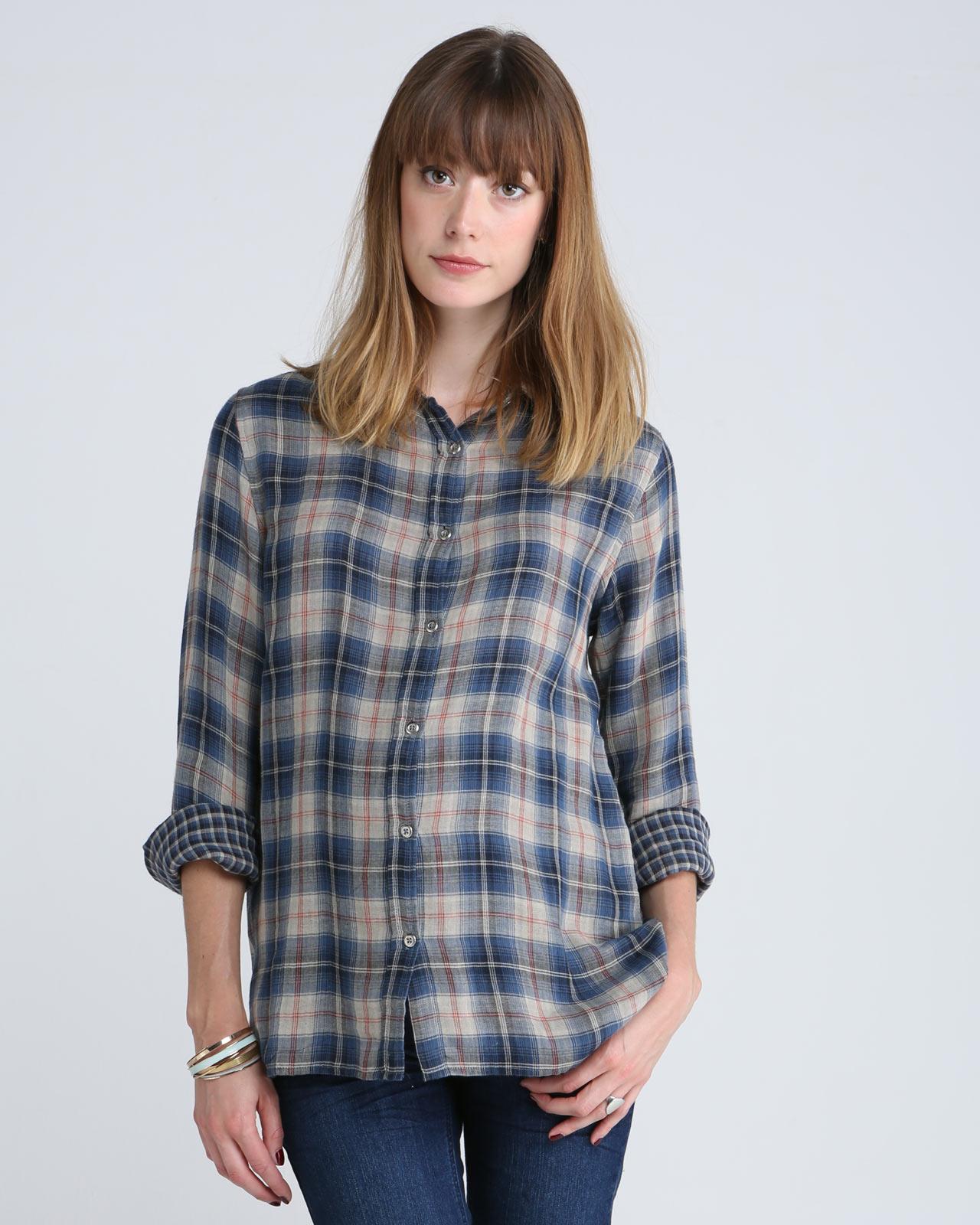 Chemise  à carreaux bleus,  1 et 1 font 3, Emoi Emoi, 110€