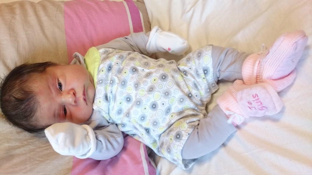 Zoé née le 22 août 2015